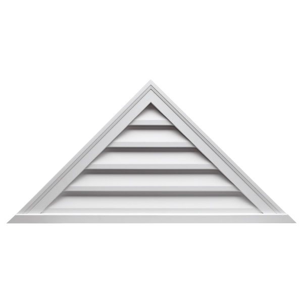 "88""W x 22""H Triangle Louver, 6/12 Pitch, Decorative"
