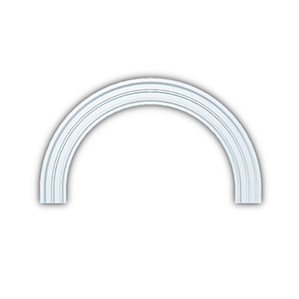 Fypon fypon half round arch decorative accents half for Decorative archway mouldings