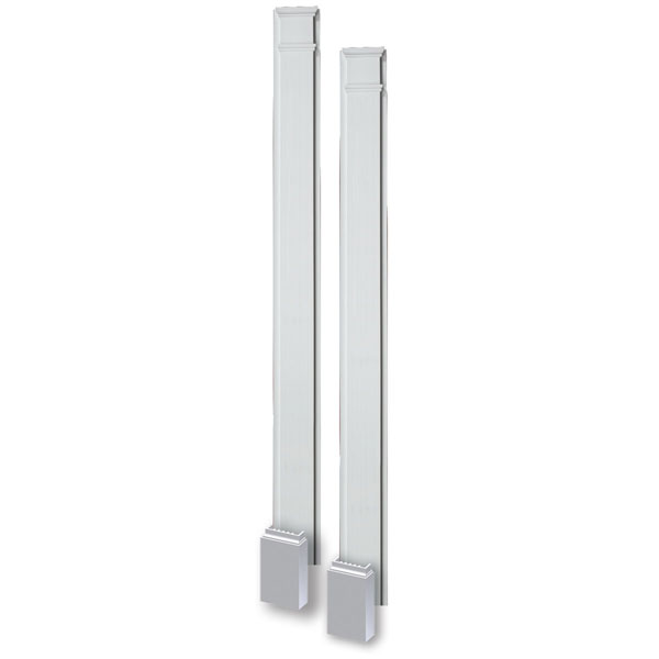 "7""W x 120""H x 2 1/2""P Smooth Pilaster, with Adjustable Plinth Block, (set of 2)"