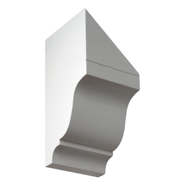"""4 3/4""""W x 10 31/32""""OH x 5 1/2""""D, Pitch 12/12 Dentil Block - Right Pitch, Urethane"""