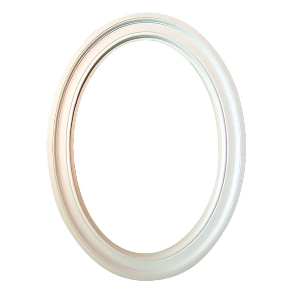"24 1/8""IW x 36 1/16""IH x 3 1/2""TW Decorative Oval Trim"