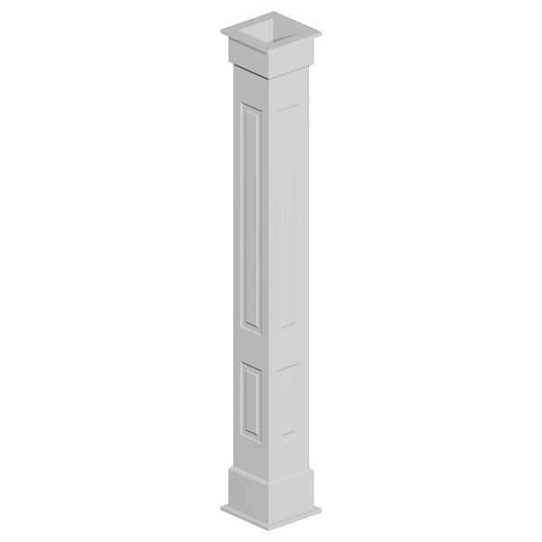 Double Raised Panel Non-Tapered Fypon Column Wrap Kit