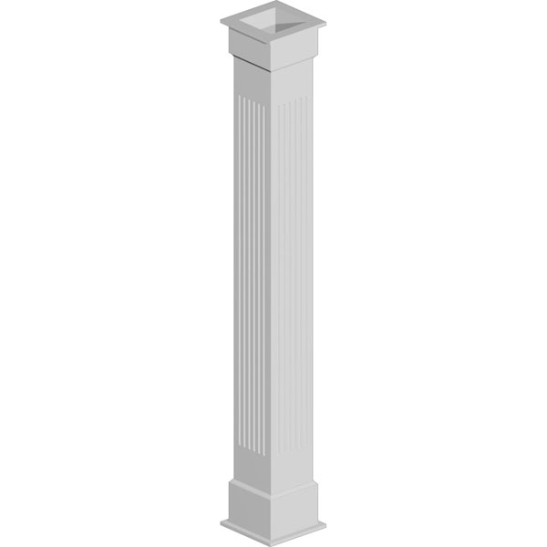 Fluted Non-Tapered Fypon Column Wrap Kit