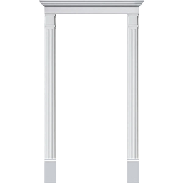 Single Door Surround Kit with Crosshead & Fluted Pilasters