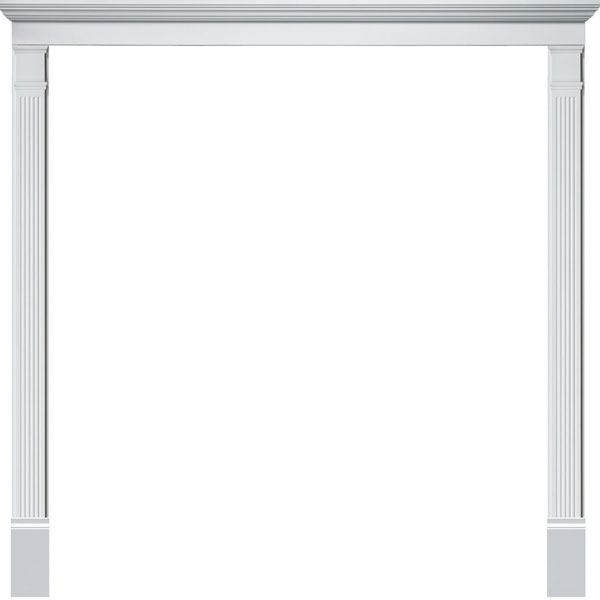 Double Door Surround Kit with Crosshead & Fluted Pilasters