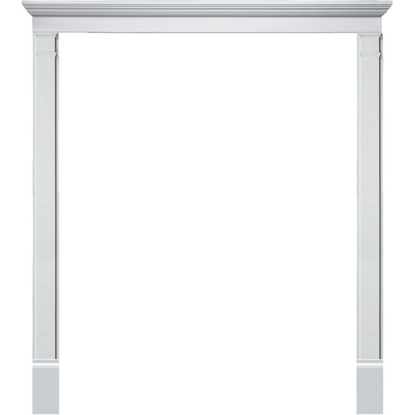 Single Door Surround Kit with Crosshead & Plain Pilasters (For doors w/ double sidelites)