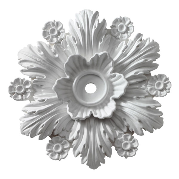 """14 3/8""""OD x 1""""ID x 2 3/4""""P, Ceiling Medallion, Beaumont (Fits Canopies up to 2 1/2"""")"""