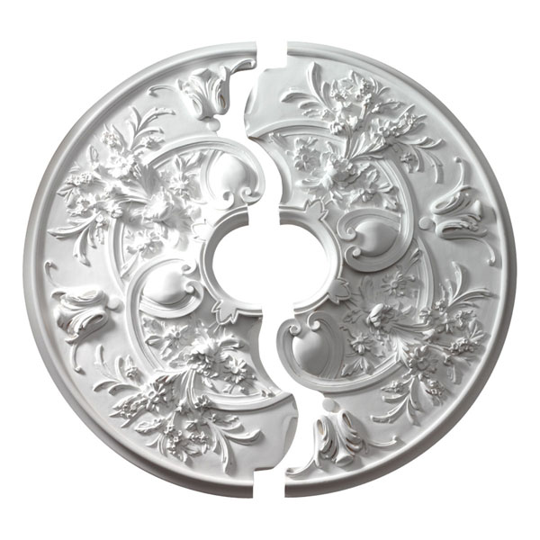 """31 7/8""""OD x 5 3/4""""ID x 2 3/16""""P, Ceiling Medallion, Rochelle (Two-Piece)"""