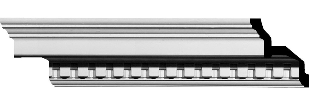 "4 1/2""H x 4 1/2""P x 6 3/8""F x 94 5/8""L Dentil Crown Moulding"