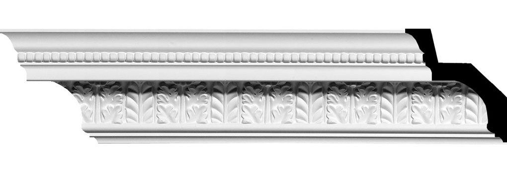 "4 5/8""H x 4 1/8""P x 6 1/4""F x 94 5/8""L Helene Leaf Crown Moulding"