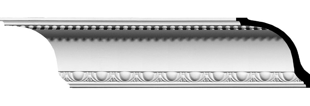 "4 1/4""H x 5 1/4""P x 6 3/4""F x 94 1/2""L Artis Egg and Dart Crown Moulding"