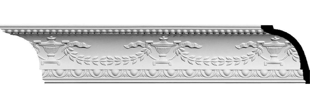 "5 1/8""H x 4 1/4""P x 6 3/4""F x 94 1/2""L Salem Federal Crown Moulding"