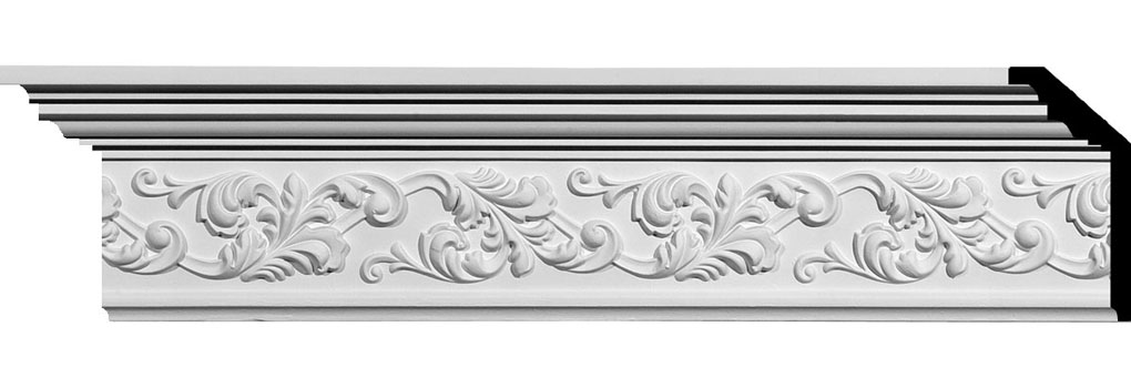 "5 1/2""H x 2 1/4""P x 6""F x 94 1/2""L Richmond Crown Moulding"