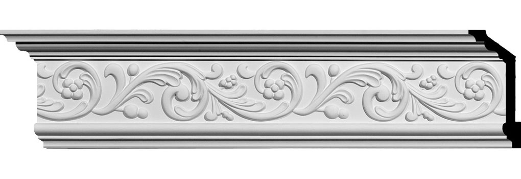 "5 7/8""H x 2 1/2""P x 6 3/8""F x 94 5/8""L Kent Crown Moulding"