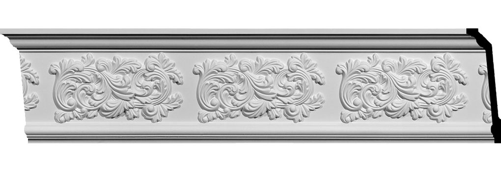 "7""H x 2 1/4""P x 7 1/4""F x 94 1/2""L Valletta Crown Moulding"