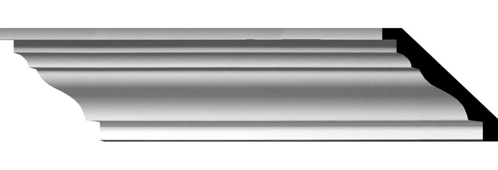 "4""H x 4 5/8""P x 6 1/8""F x 96""L Classic Smooth Crown Moulding"