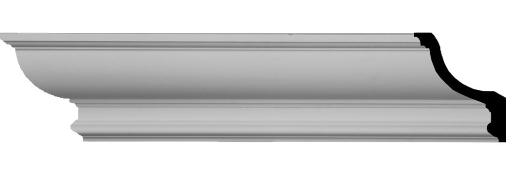 """6""""H x 4 1/2""""P x 7 5/8""""F x 94 1/2""""L Maria Traditional Smooth Crown Moulding"""
