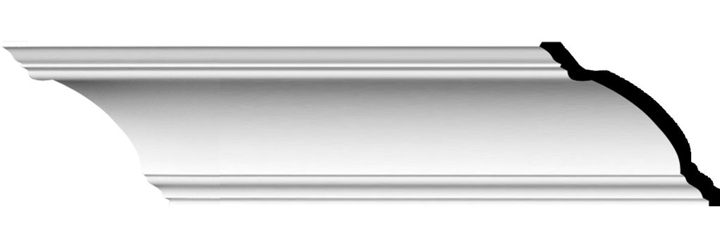 "4 1/8""H x 6 1/8""P x 7 1/4""F x 94 1/2""L Diane Traditional Crown Moulding"