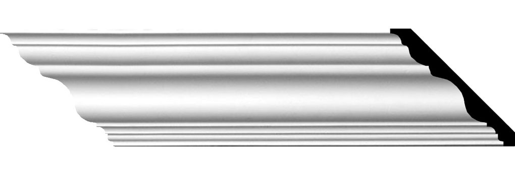 "4 3/4""H x 4 3/4""P x 6 3/4""F x 94 1/2""L Tristan Traditional Crown Moulding"