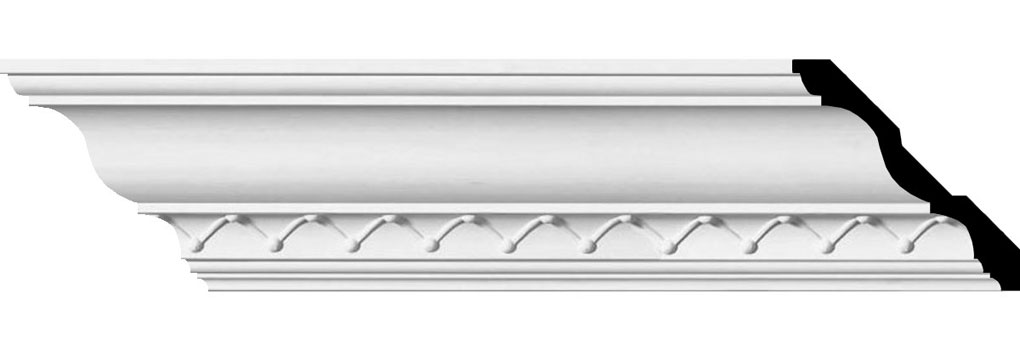 "4 1/4""H x 4 1/4""P x 6 1/8""F x 94 1/2""L, (1 5/8"" Repeat), Charlotte Crown Moulding"