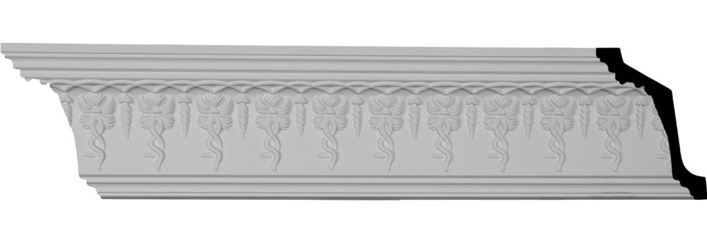 "5""H x 3 7/8""P x 6 1/2""F x 94 3/8""L, (2 3/8"" Repeat), Scott Crown Moulding"