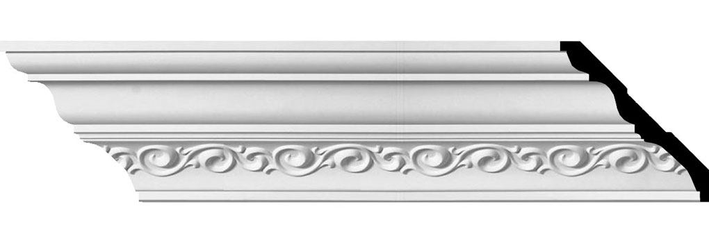 "5""H x 5 3/8""P x 7 3/8""F x 94 1/2""L, (5 1/2"" Repeat), Terrones Crown Moulding"